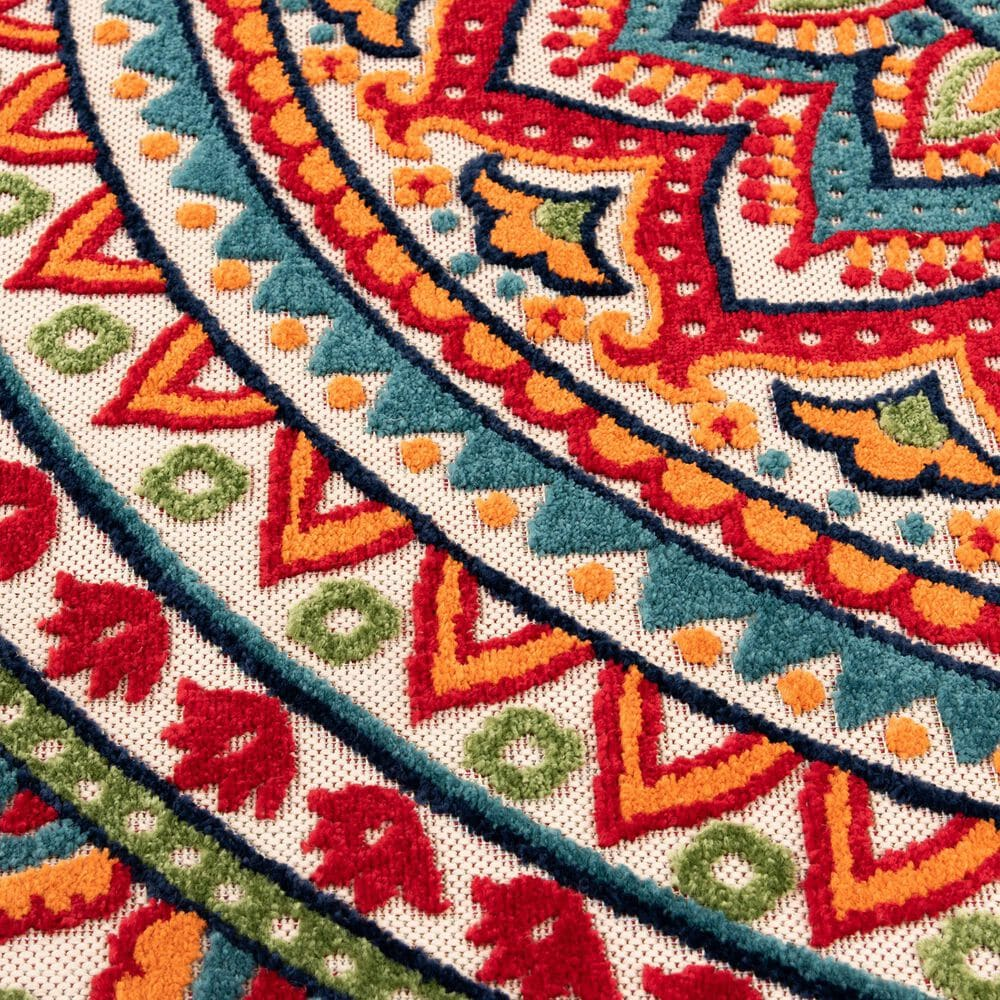 """Central Oriental Fontana Panyin 1657.04 2'2"""" x 7'6"""" Cream and Red Runner, , large"""