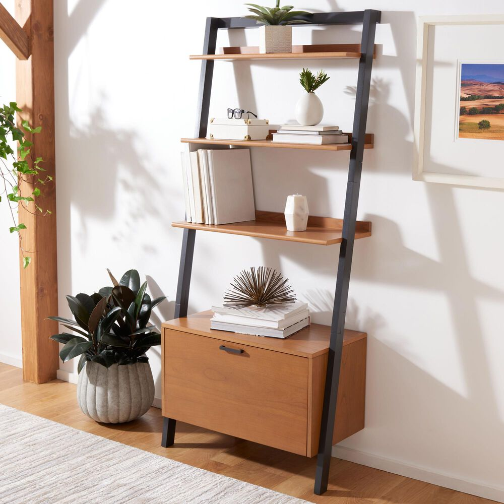 Safavieh Vlad 3-Shelf Etagere in Natural and Charcoal, , large