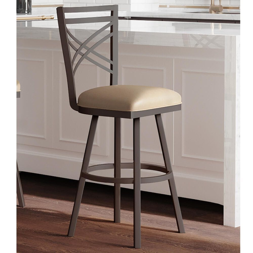 "Delaware Dining Rebecca 30"" Swivel Barstool in Sun Bronze/Beige, , large"