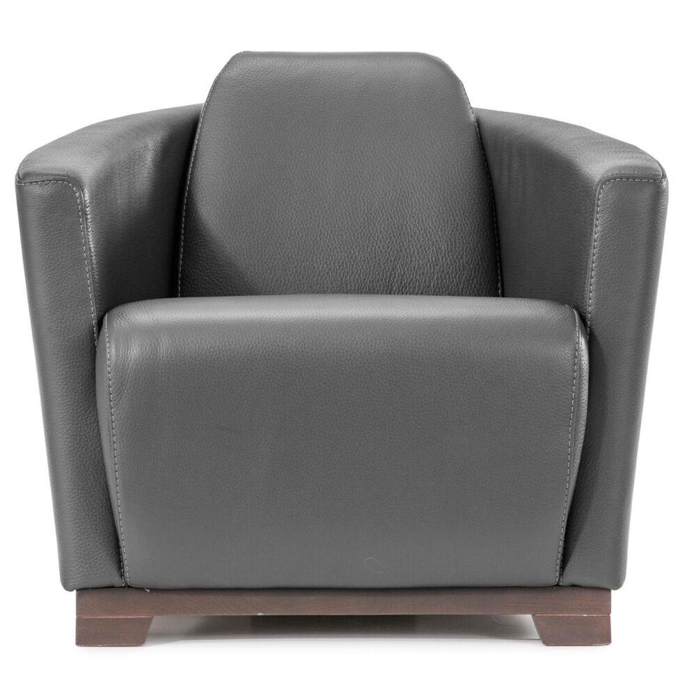 Nicoletti Calia Sofas Hotel Leather Chair in Dark Grey, , large