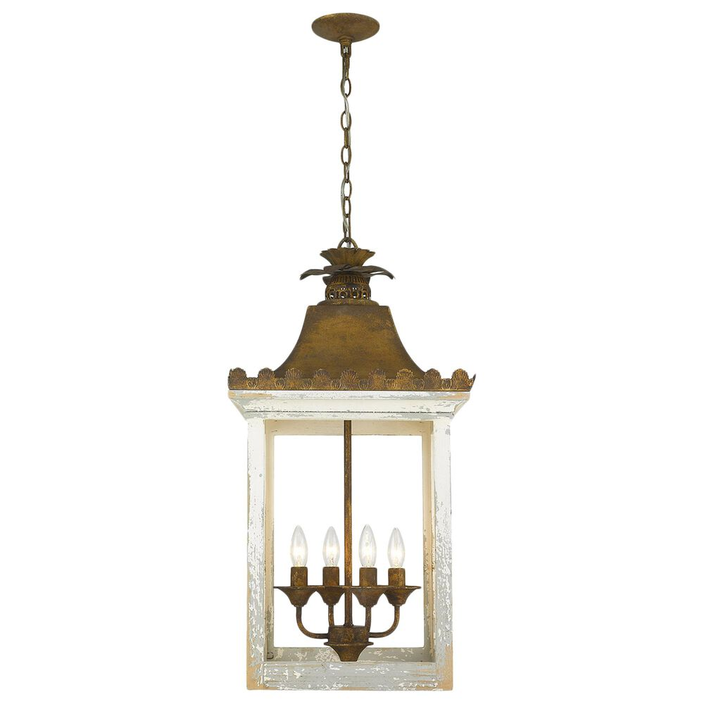 Golden Lighting Finley 4-Light Pendant in Burnished Chestnut, , large
