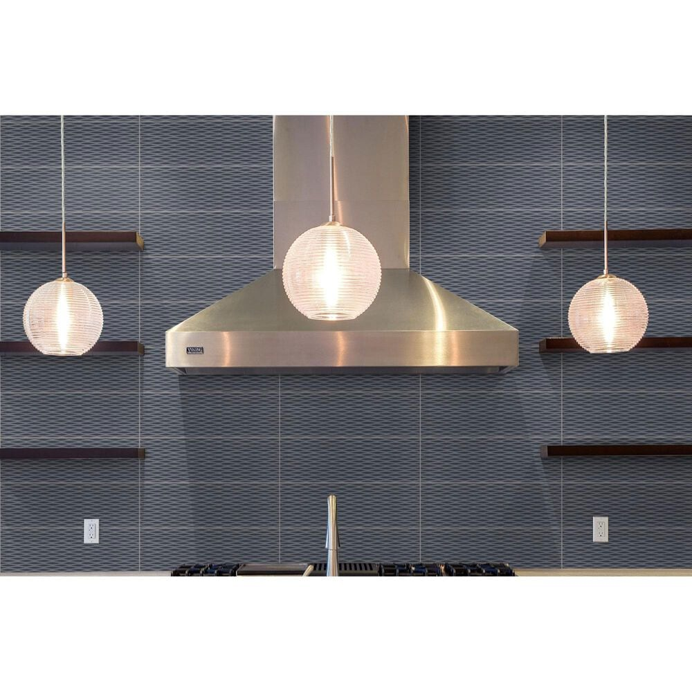 """Emser Motif II Charcoal 4"""" x 12"""" Ceramic Tile, , large"""
