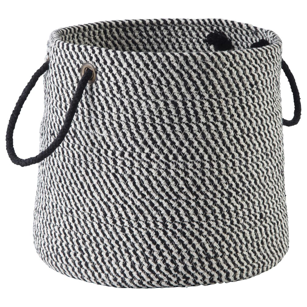 Signature Design by Ashley Eider Basket in Black and White, , large