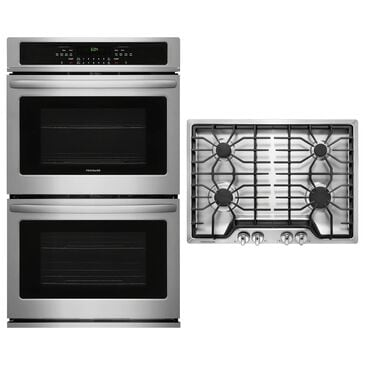 """Frigidaire 2-Piece Kitchen Package with 30"""" Double Wall Oven and Gas Cooktop in Stainless Steel, , large"""