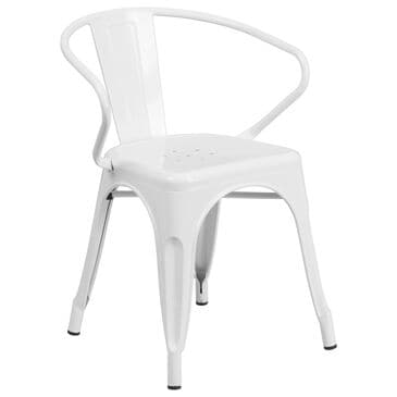 Flash Furniture Arm Chair in White, , large