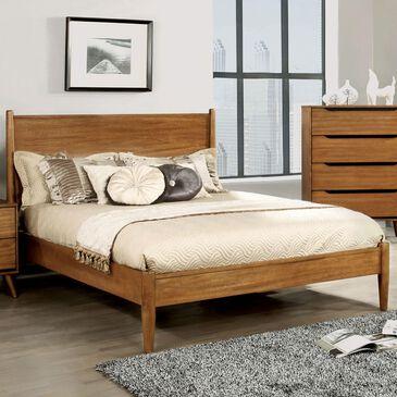 Furniture of America Ruiz Queen Platform Bed in Oak, , large