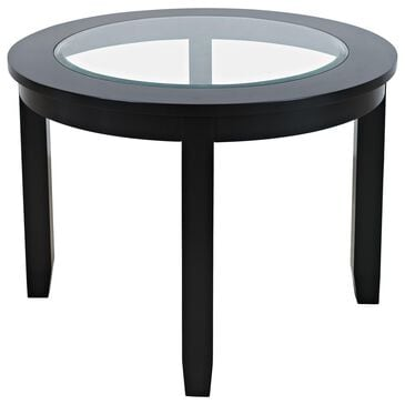 Waltham Urban Icon Round Dining Table in Polished Black, , large