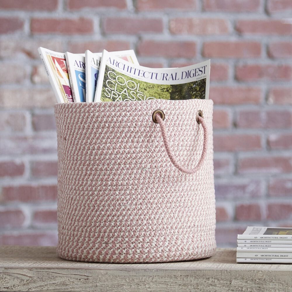 Signature Design by Ashley Eider Basket in Pink and White, , large