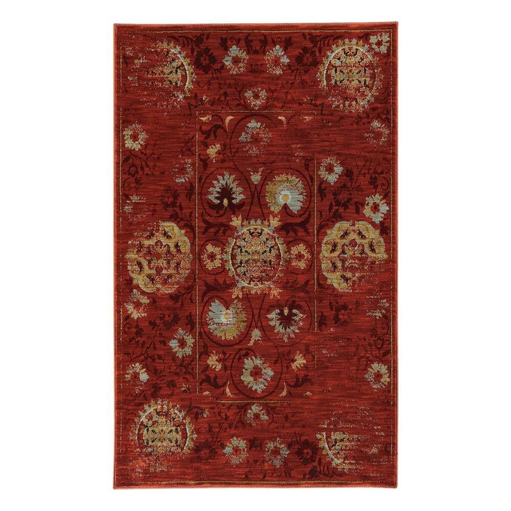 "Oriental Weavers Sedona 6386E 1'10"" x 3' Red Area Rug, , large"