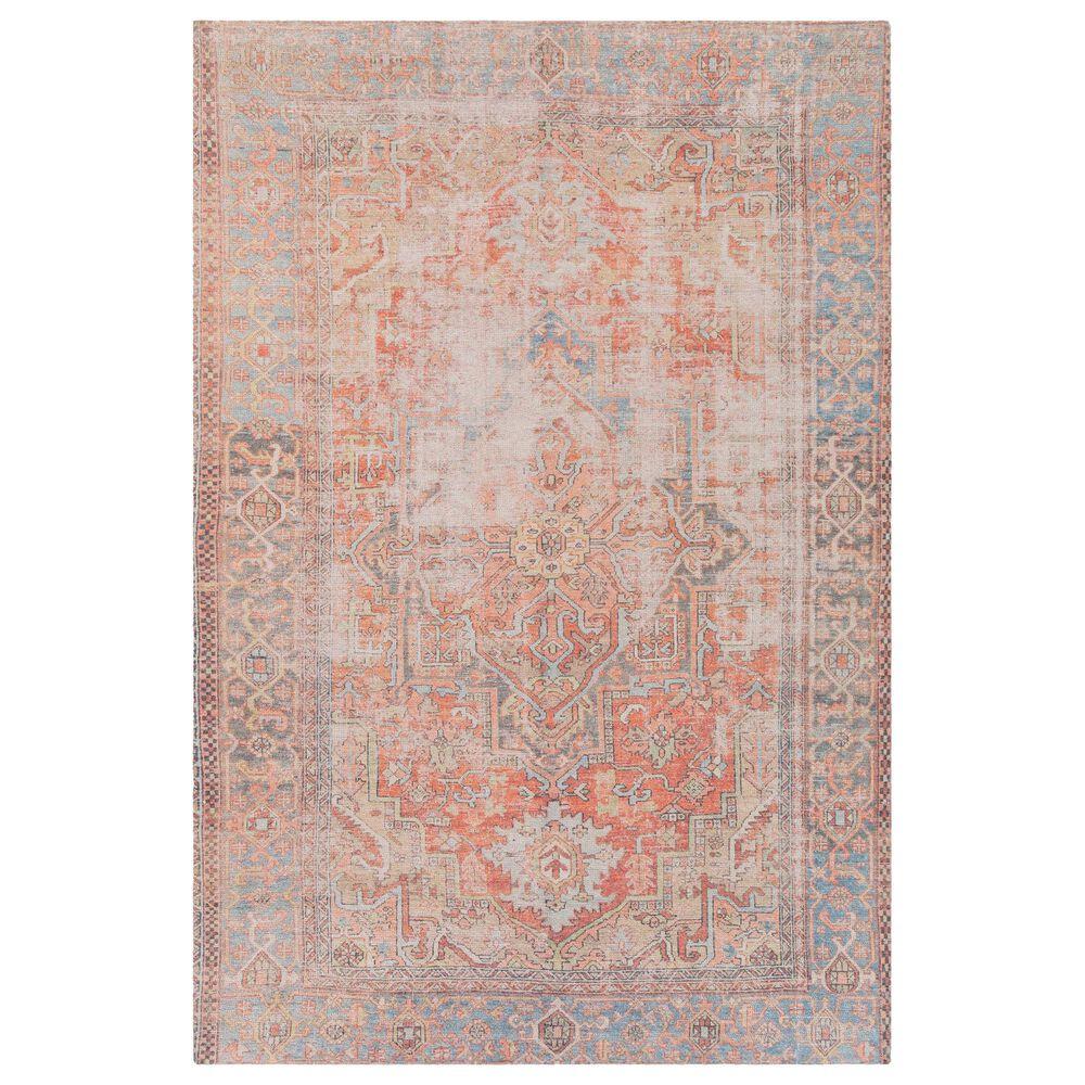 """Surya Unique 5' x 7'6"""" Peach, Orange and Blue Area Rug, , large"""
