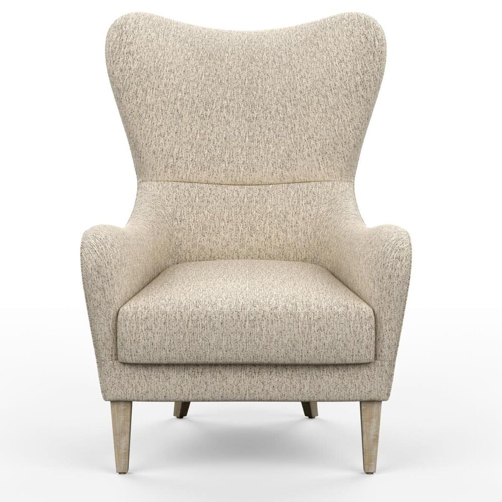 Hampton Park Arianna Swoop Wing Chair in Archer Heron, , large