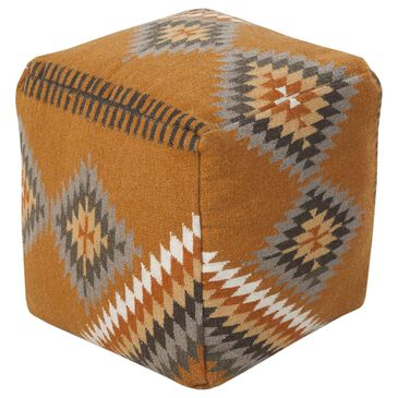 Surya Inc Surya Poufs Cube Pouf in Orange, , large