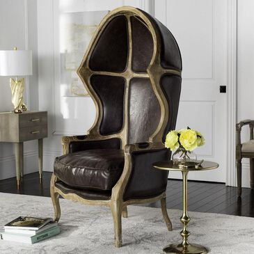 Safavieh Sabine Balloon Chair in Brown, , large