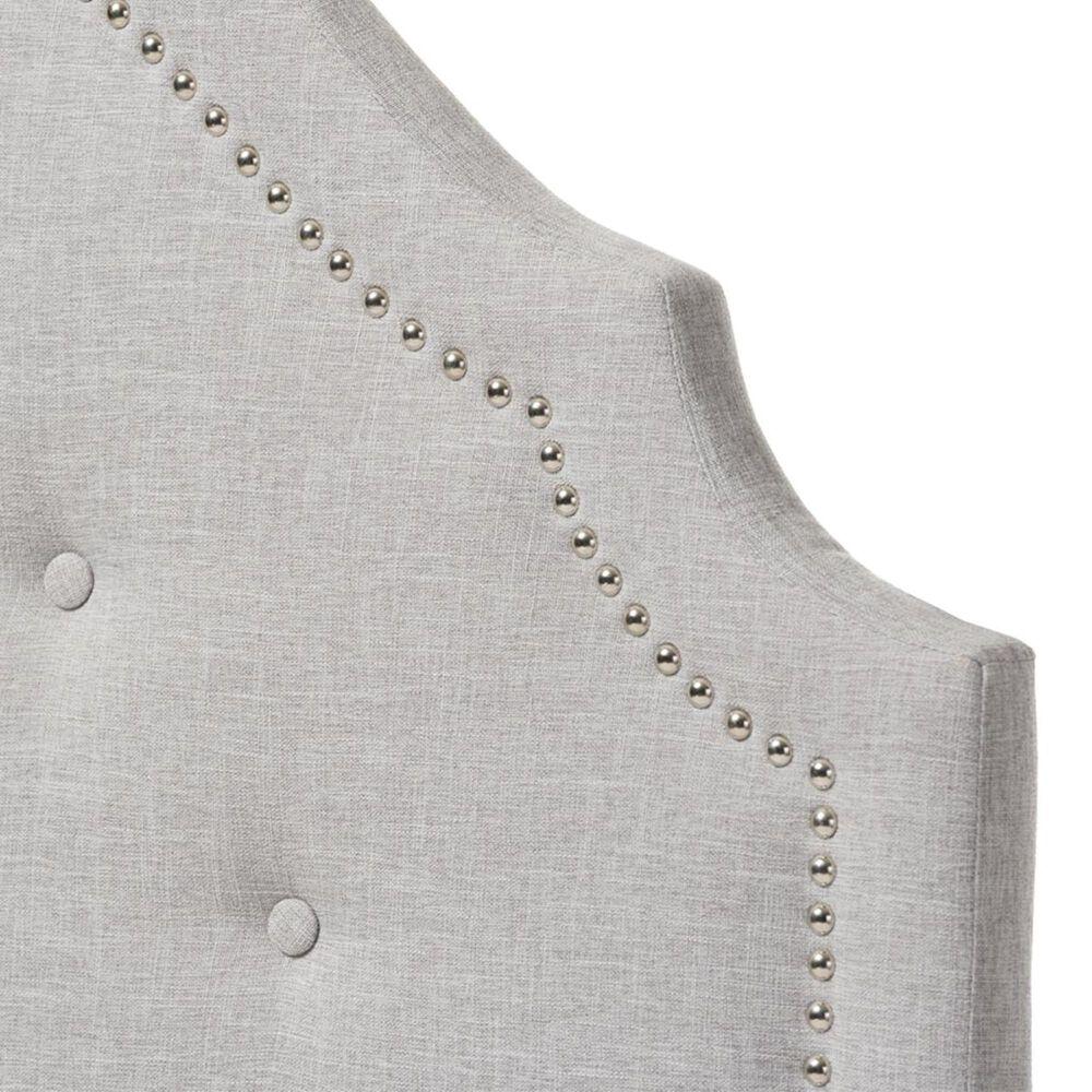 Baxton Studio Cora Twin Upholstered Headboard in Greyish Beige, , large