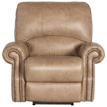 Dawson Lane Prescott Leather Power Wall Recliner with Power Headrest in Wheat, , large