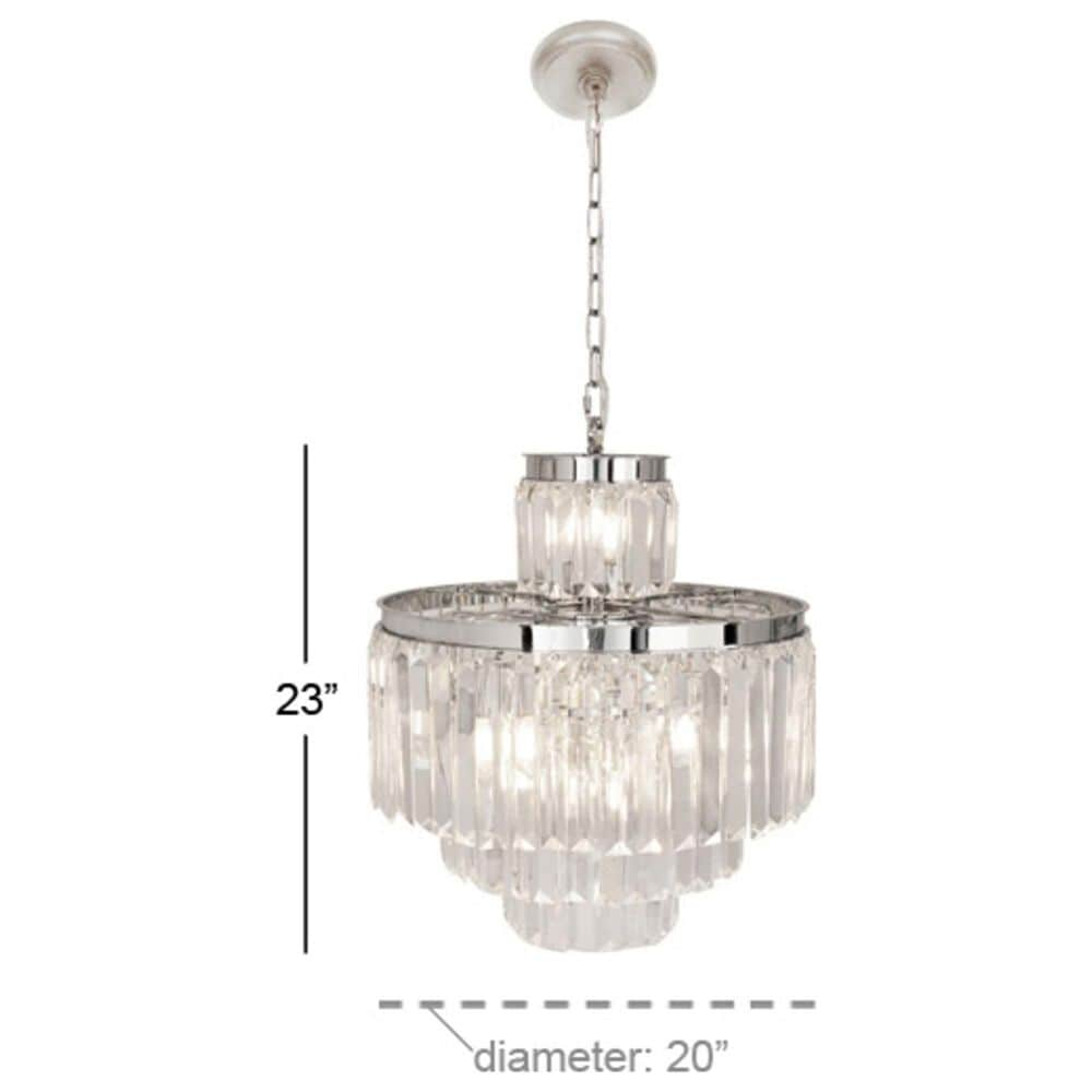 """Maple and Jade 23"""" x 20"""" Chandelier in Silver, , large"""