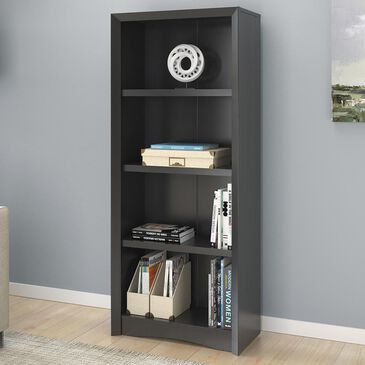 "CorLiving Quadra 59"" Tall Bookcase in Black, , large"