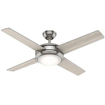 """Hunter Marconi 52"""" Ceiling Fan with Led Lighting in Brushed Nickel, , large"""