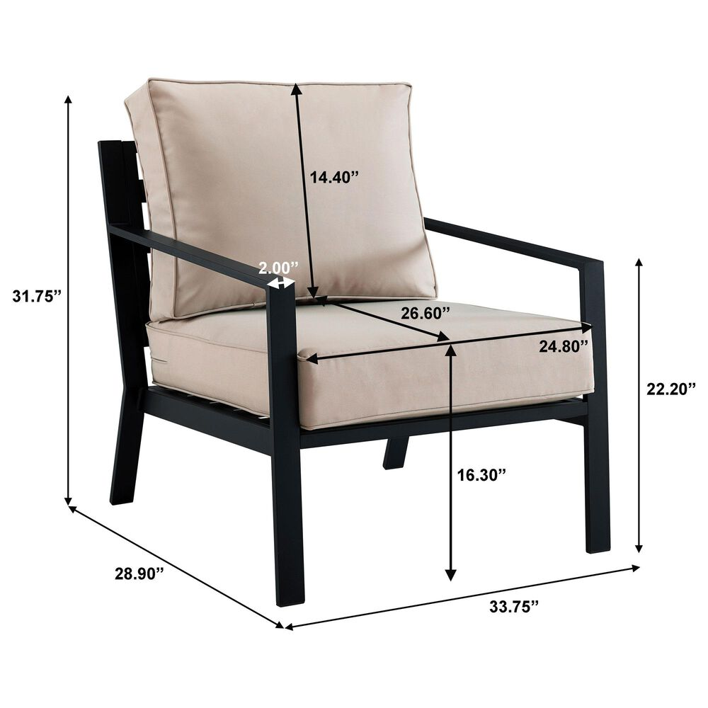 Accentric Approach 4-Piece Patio Chat Set in Black, , large