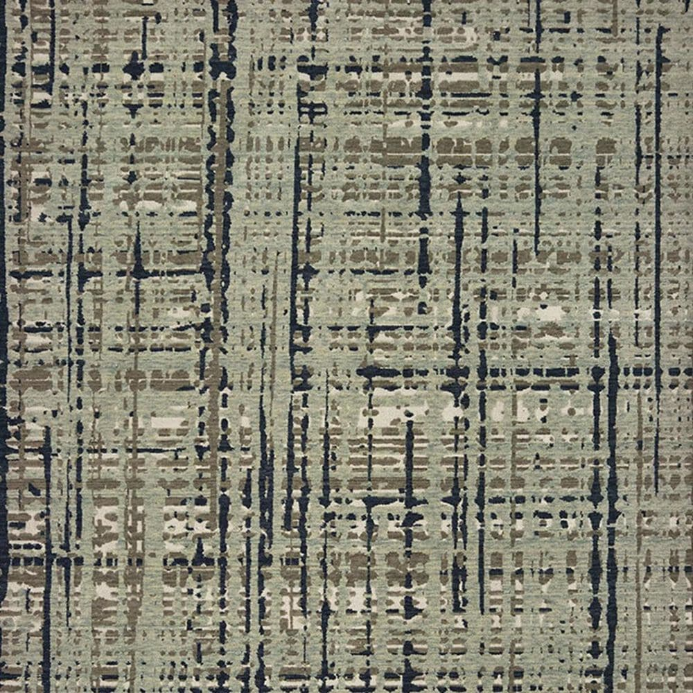 Oriental Weavers Montage 8020B 2' x 3' Blue and Tan Scatter Rug, , large