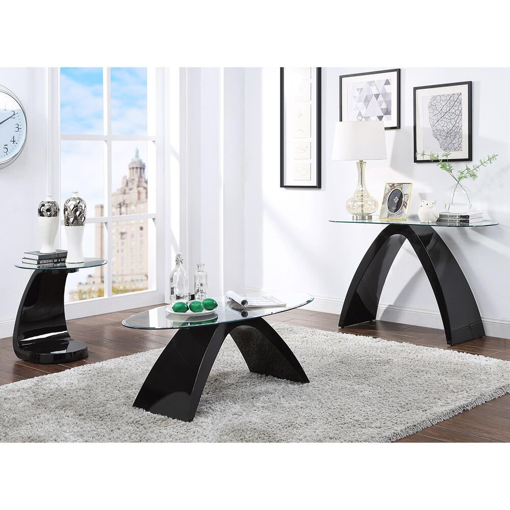 Furniture of America Bond 2-Piece Coffee Table Set in Black, , large