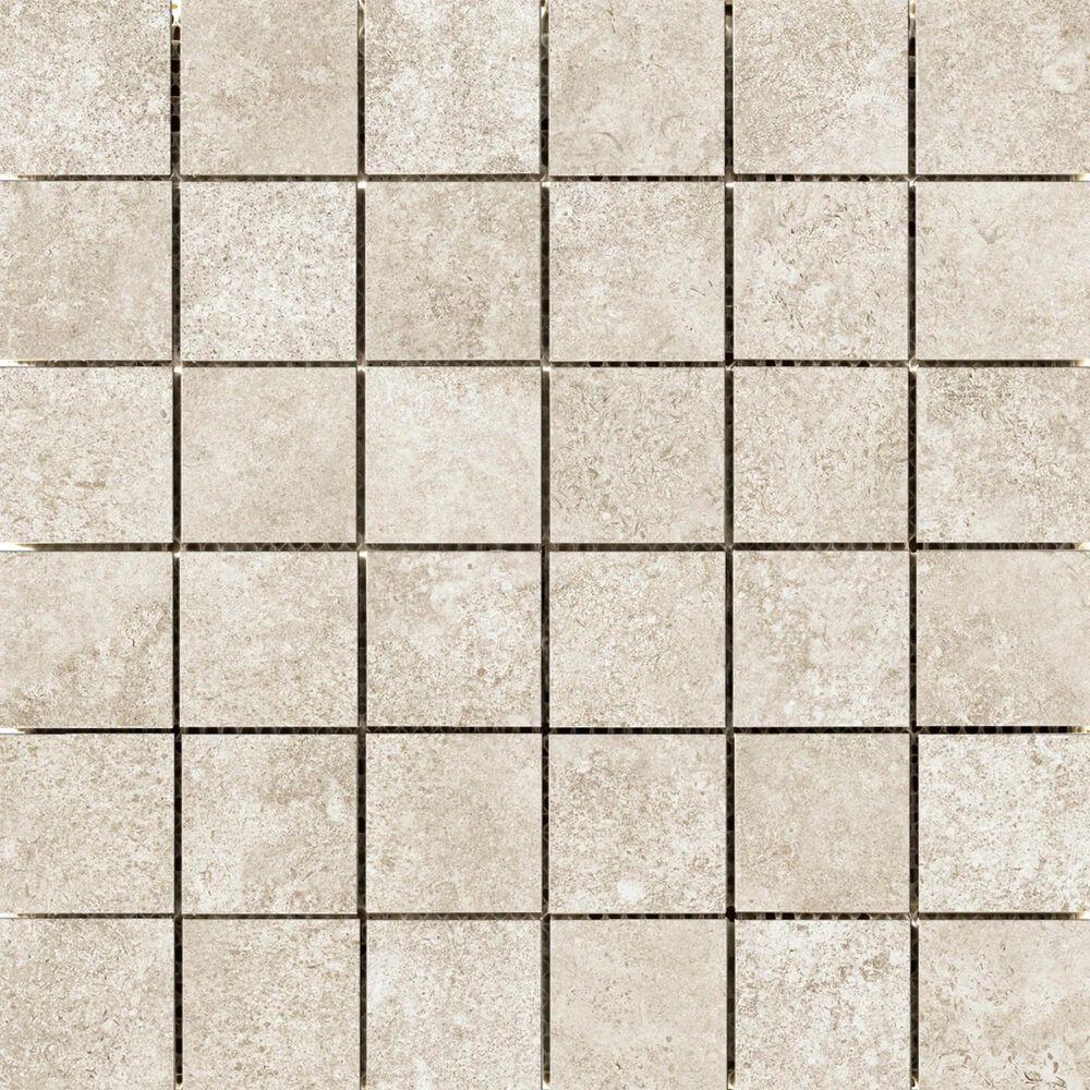 "Emser Topanga Cream 2"" x 2"" Square on 12"" x 12"" Ceramic Mosaic Sheet, , large"