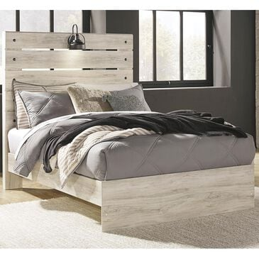 Signature Design by Ashley Cambeck Full Panel Bed in Whitewash with Lighting, , large