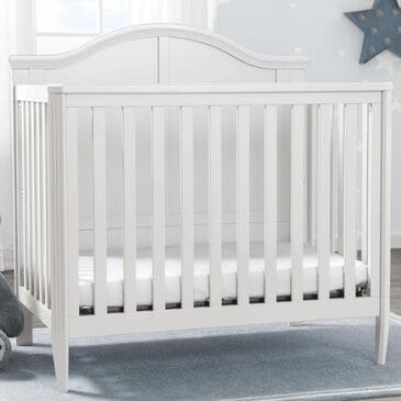 Delta Parker Mini Convertible Baby Crib with Mattress in Bianca White, , large