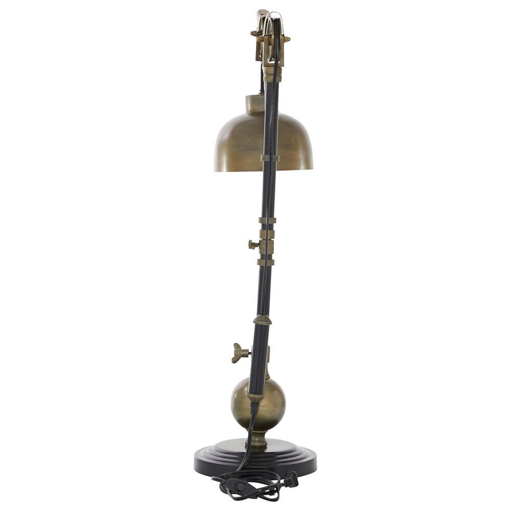 "Maple and Jade  Industrial 31"" Metal Table Lamp in Black, , large"