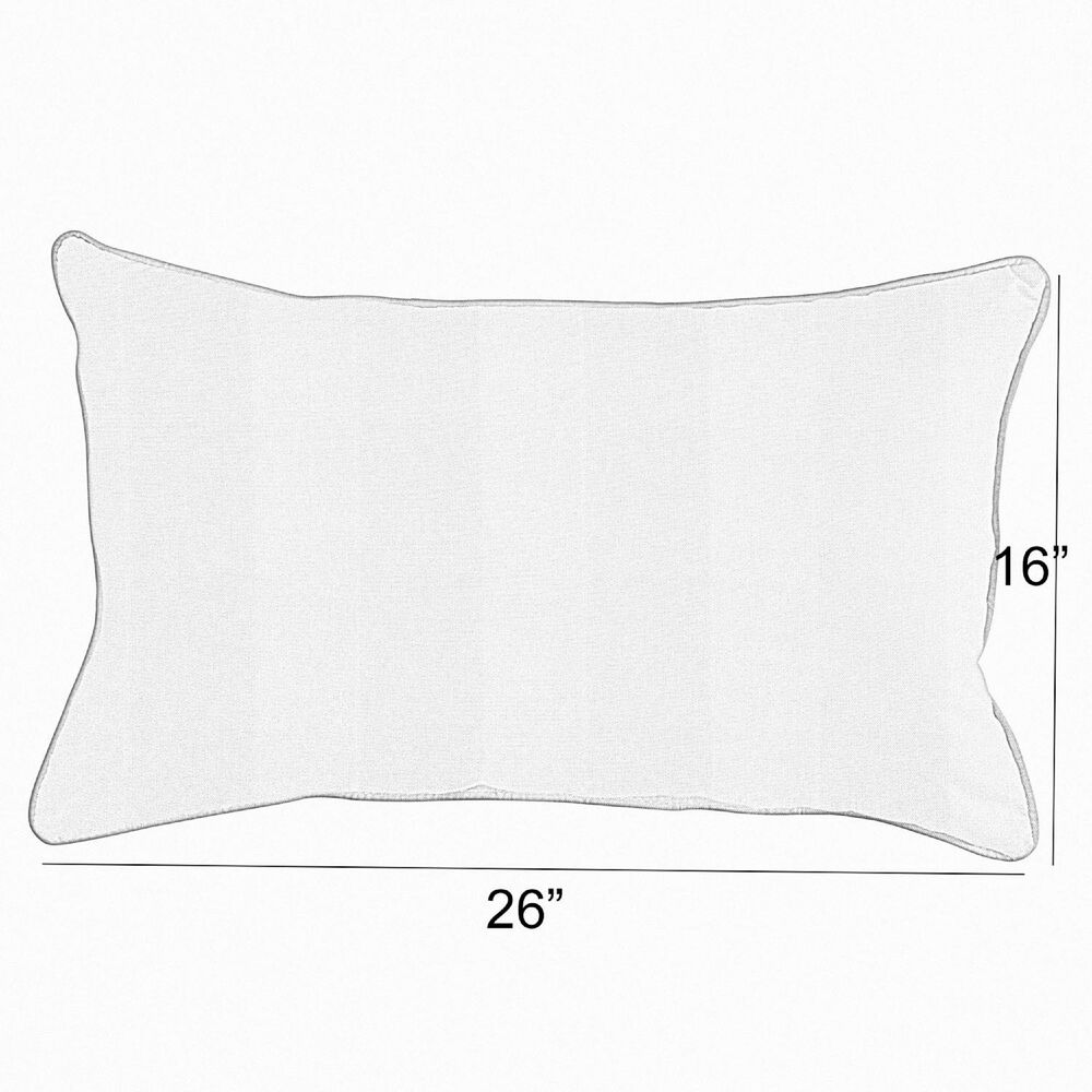 """Sorra Home Sunbrella 16"""" x 26"""" Pillow in Dupione Sand (Set of 2), , large"""