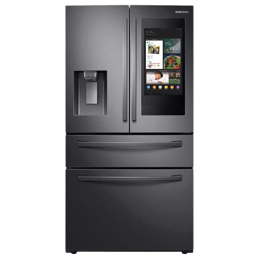 Samsung 2-Piece Kitchen Package with 28 Cu. Ft. French Door Refrigerator with Linear Wash Dishwasher in Black Stainless Steel, , large