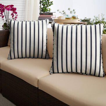 "Sorra Home Sunbrella 18"" Pillow in Lido Indigo (Set of 2), , large"
