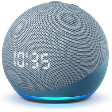 Amazon Echo Dot 4 Smart Speaker with Clock and Alexa in Twilight Blue, , large