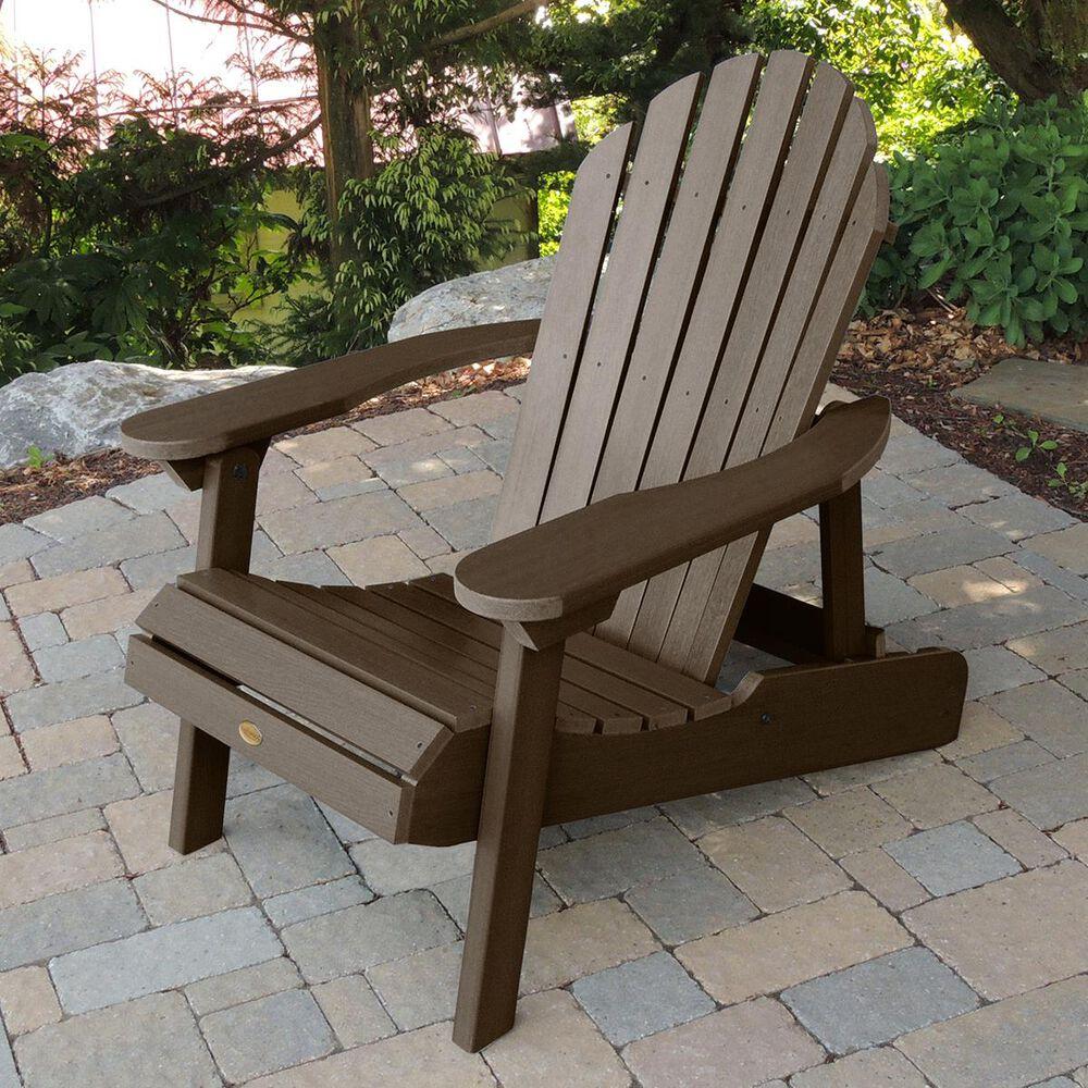 Highwood USA Hamilton Folding Adirondack Chair in Weathered Acorn (Set of 2), , large