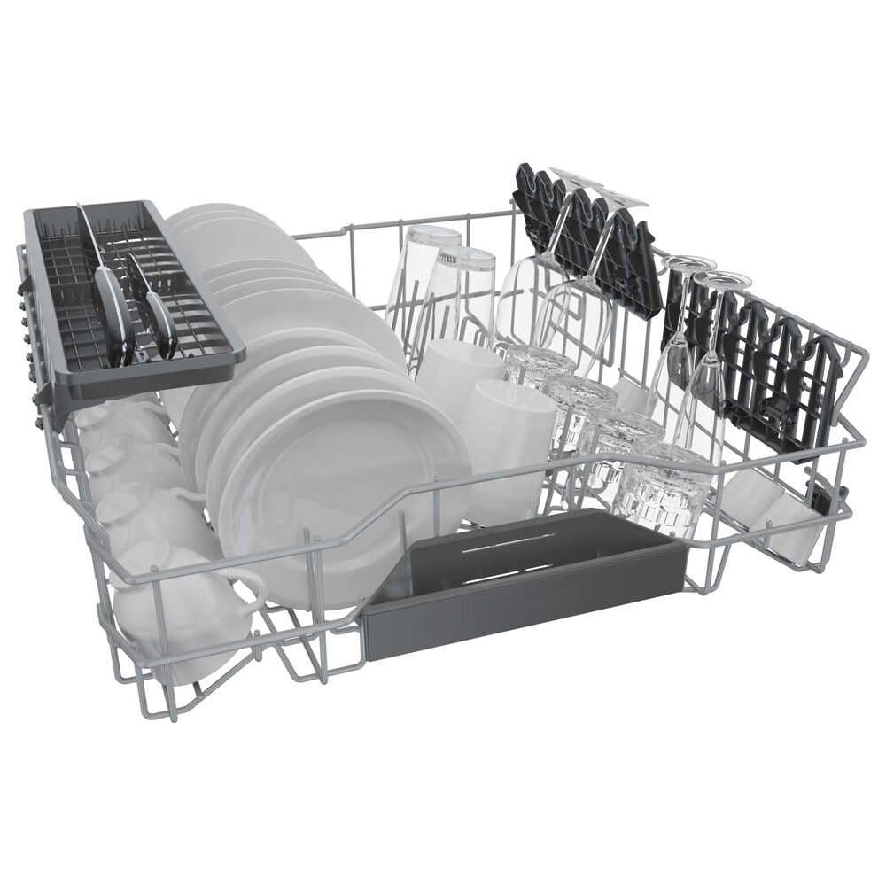 """Bosch 300 Series 24"""" Recessed Handle Dishwasher in Black, , large"""