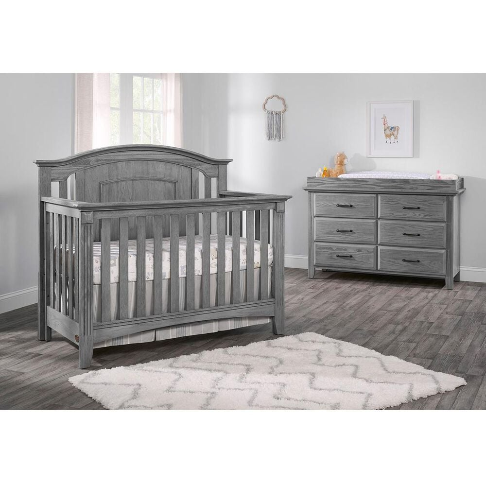 Oxford Baby Willowbrook 6 Drawer Dresser in Graphite Gray, , large