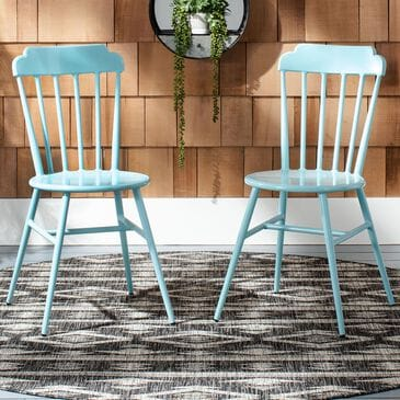 Safavieh Broderick Stackable Side Chair in Baby Blue (Set of 2), , large