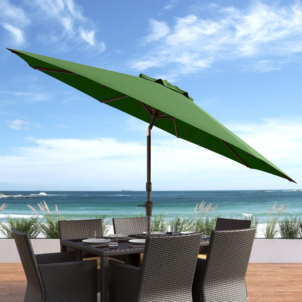 CorLiving 10' UV & Wind Resistant Patio Umbrella in Forest Green, , large