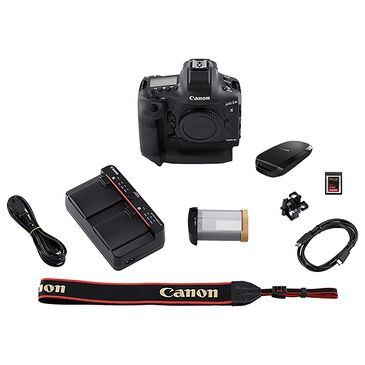 Canon EOS-1D X Mark III Digital SLR Camera in Black, , large