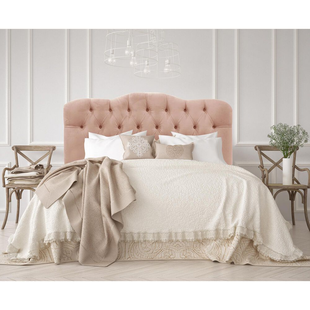 Skyline Furniture Queen Headboard in Velvet Soft Pink, , large