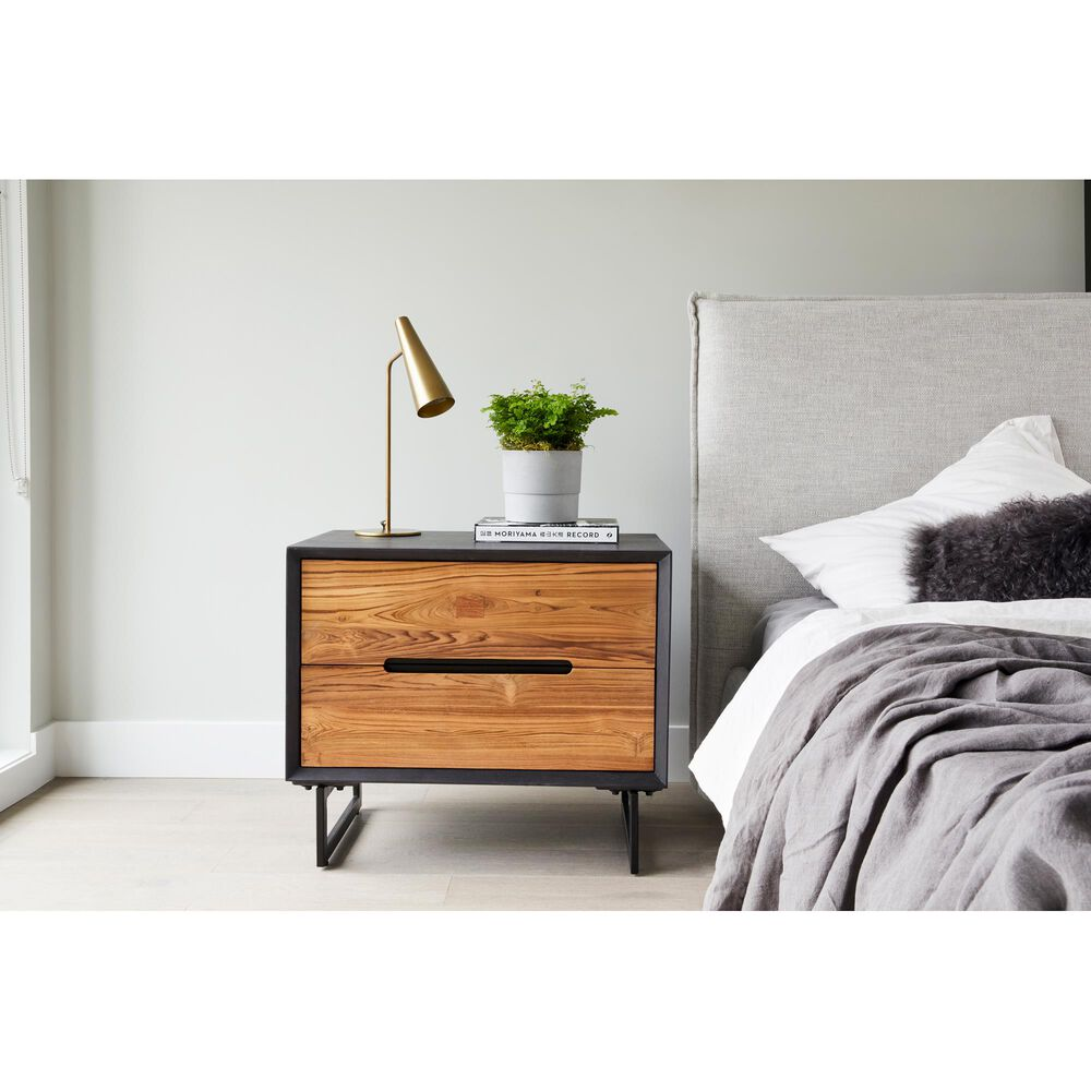 Moe's Home Collection Vienna 2 Drawer Nightstand in Brown, , large