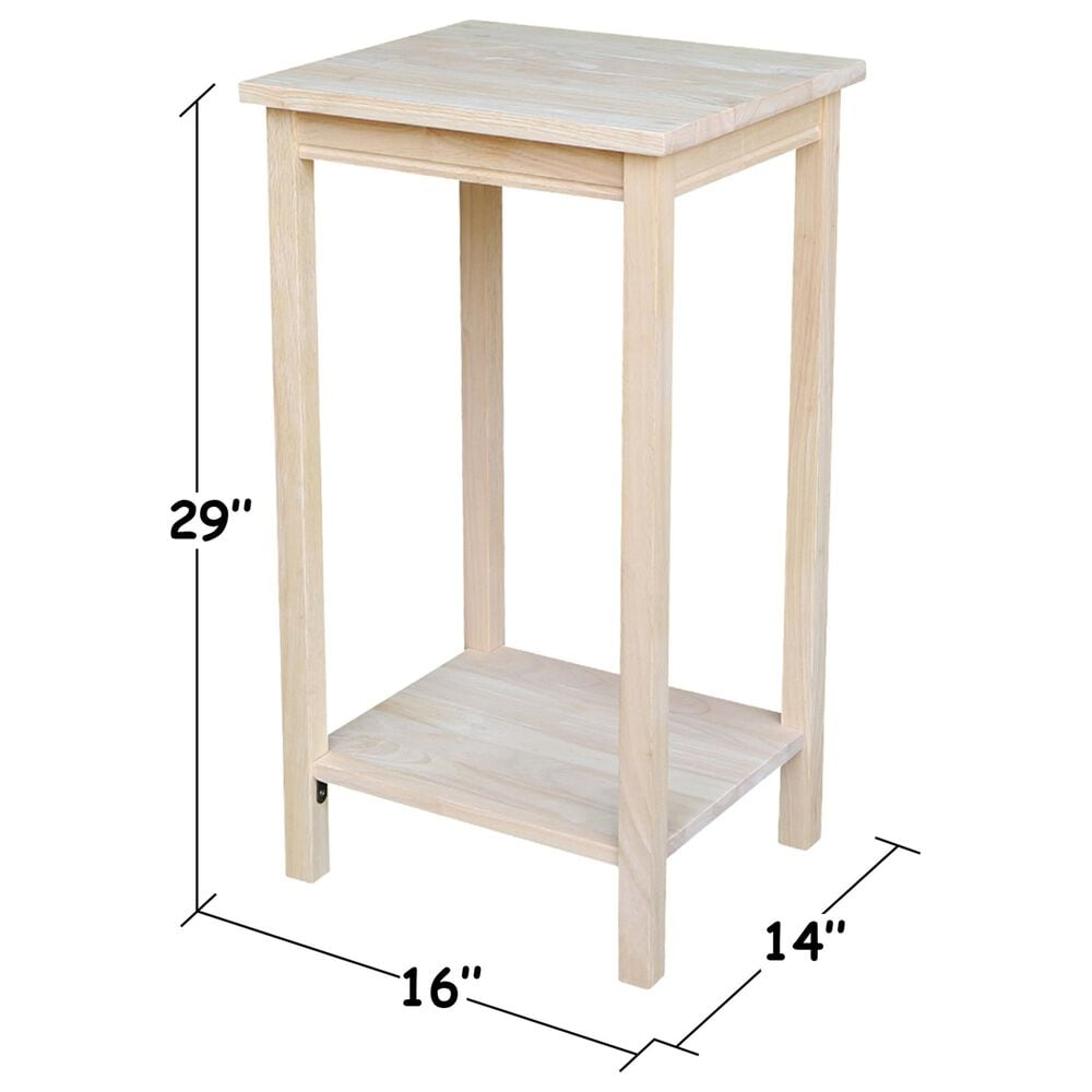 International Concepts Portman Accent Table in Unfinished, , large