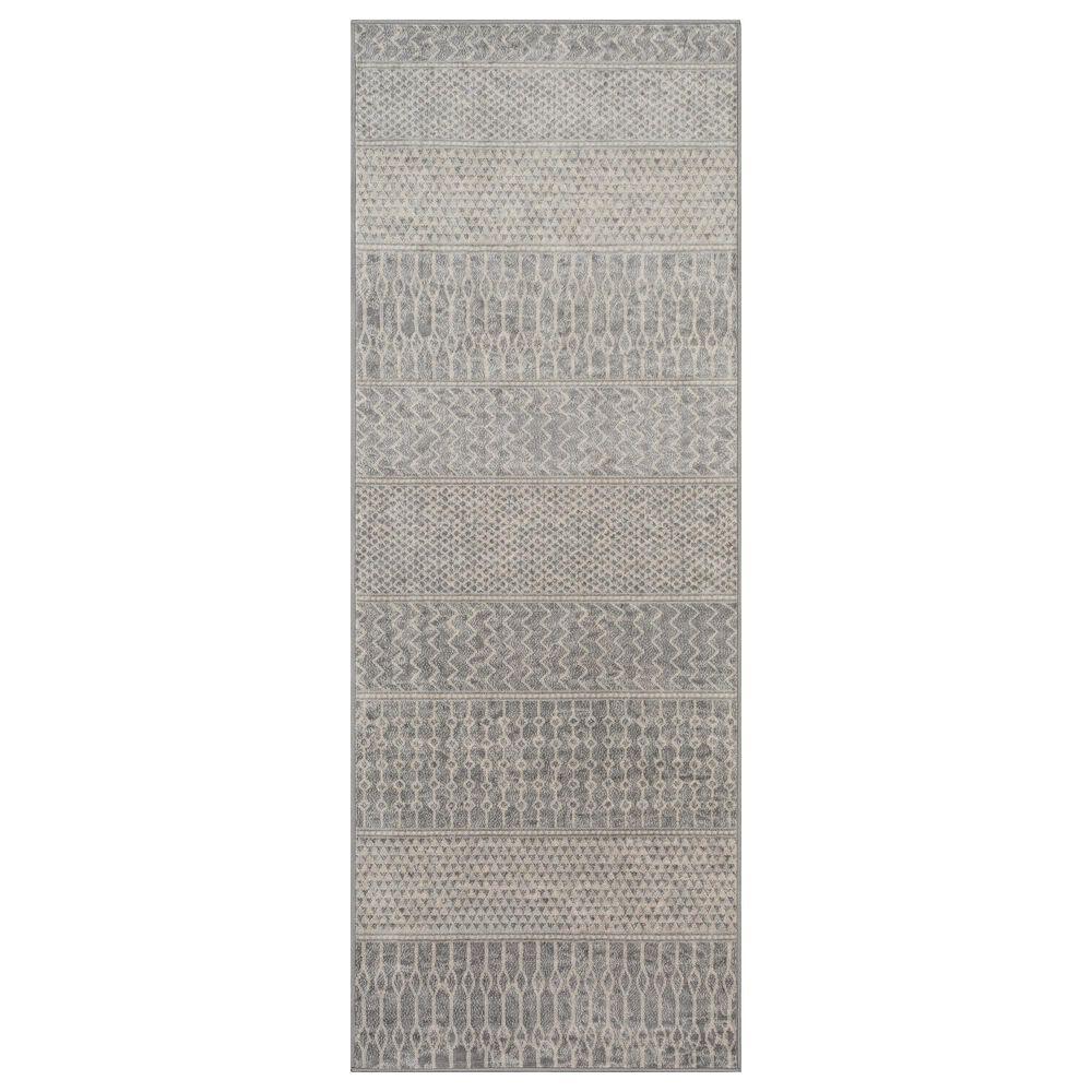 "Surya Monaco MOC-2304 2'6"" x 8' Silver, Gray and Cream Runner, , large"