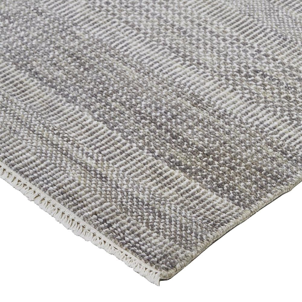 Feizy Rugs Janson I6063 2' x 3' Gray and Silver Area Rug, , large