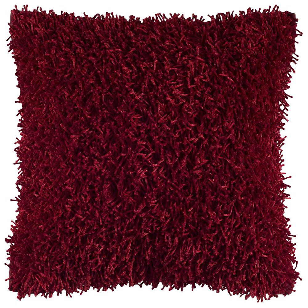 """Rizzy Home 18"""" x 18"""" Pillow Cover in Dark Red, , large"""