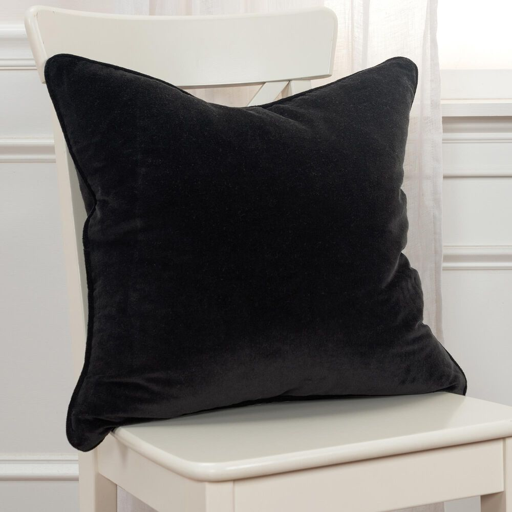 """Rizzy Home Connie Post 20"""" Pillow Cover in Black, , large"""