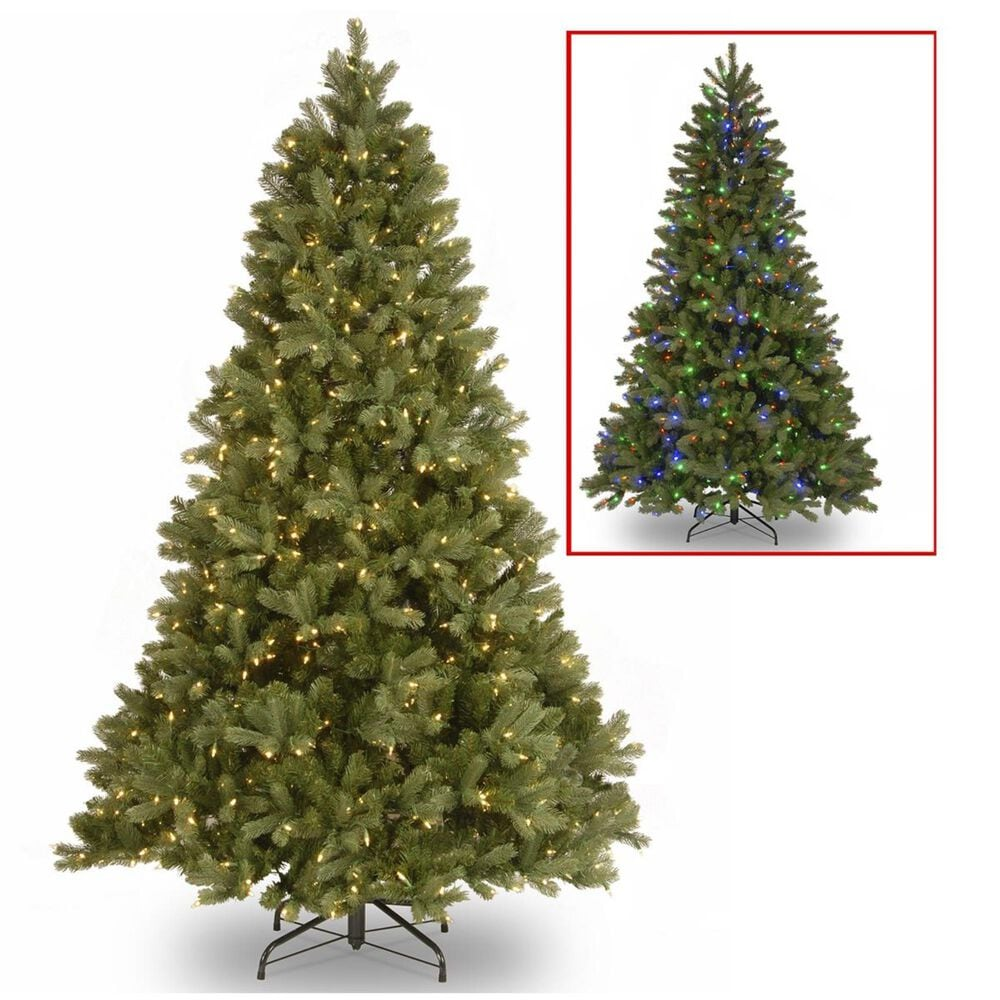 """National Tree 6.5"""" Feel Real Downswept Douglas Fir Hinged Tree with 750 Dual Color LED Lights, , large"""