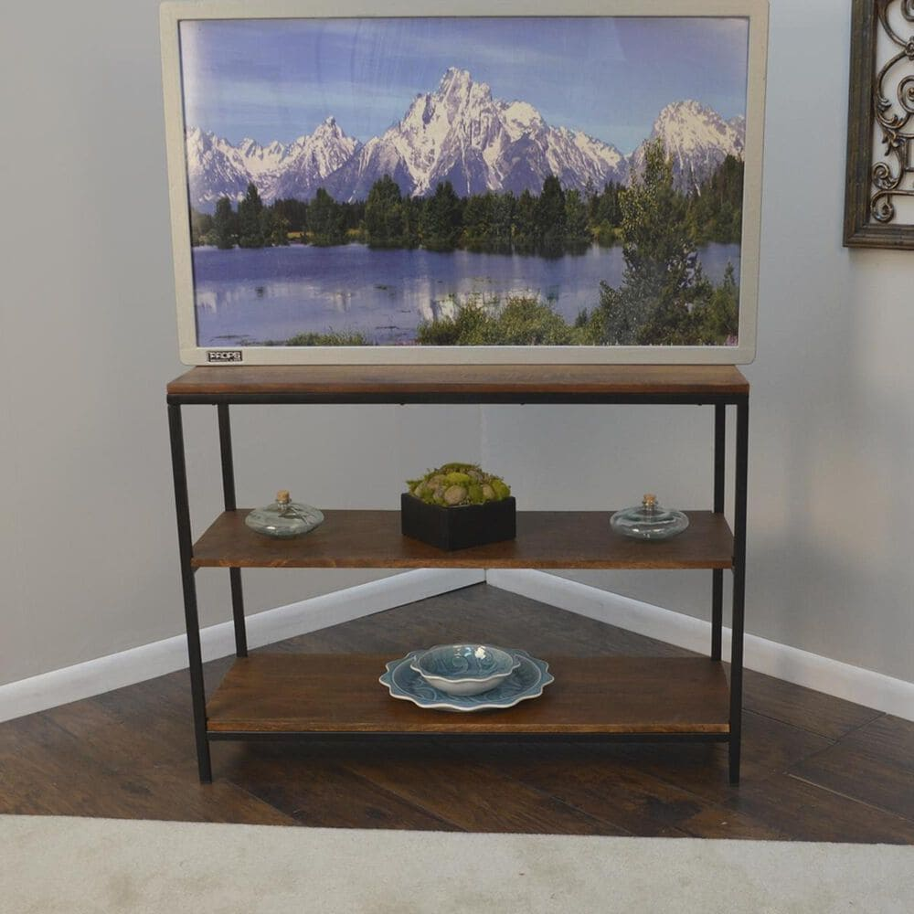 Carolina Cottage Brayden Console Table in Chestnut and Black, , large