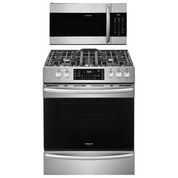 """Frigidaire Gallery 2-Piece Kitchen Bundle With a 30"""" Front Control Gas Range Steel, , large"""