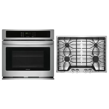 """Frigidaire 2-Piece Kitchen Package with 30"""" Single Wall Oven and Gas Cooktop in Stainless Steel, , large"""